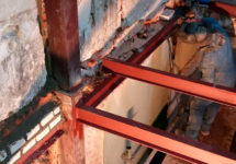 Sustitucion estructura metalica por una de madera