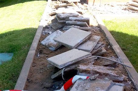 demolición e impermeabilización urbanizacion alcorcon
